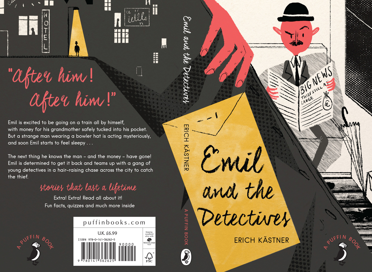 Penguin Book Cover Awards : Emil and the detectives ailsa johnson